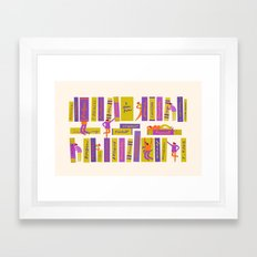 Writers and readers 1 Framed Art Print