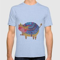 The Smile Cow Mens Fitted Tee Athletic Blue SMALL