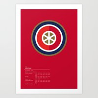 Arsenal geometric logo Art Print