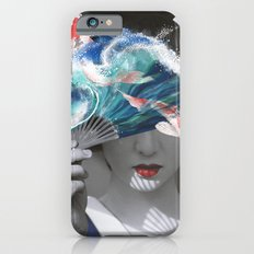Geisha with Koi Fan. iPhone 6 Slim Case
