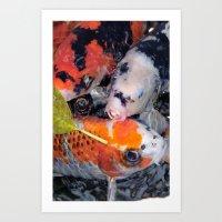 Koi Eyed Art Print