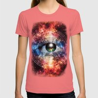 Quantum space Womens Fitted Tee Pomegranate SMALL