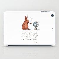 Pipe-smoking rabbit iPad Case