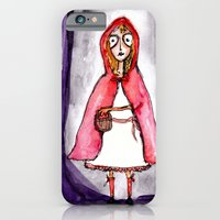 iPhone & iPod Case featuring Little Red Ridding Hood by Kevin Van Gysel