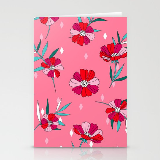 Pink Summer Stationery Card