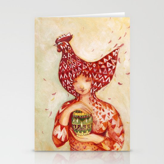 chicken or the egg? Stationery Card