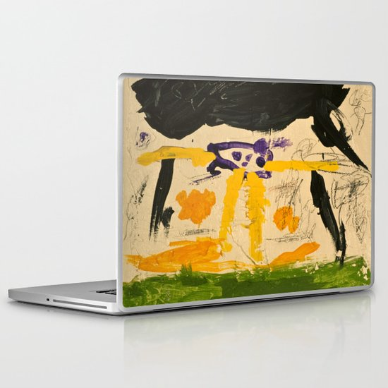 Black Rain Laptop & iPad Skin