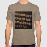 Get it Mens Fitted Tee Tri-Coffee SMALL
