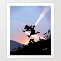Flash Kid Art Print