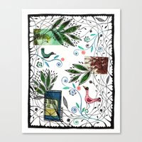 Through the jungle web Canvas Print