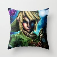 Legend Of Zelda Link The… Throw Pillow