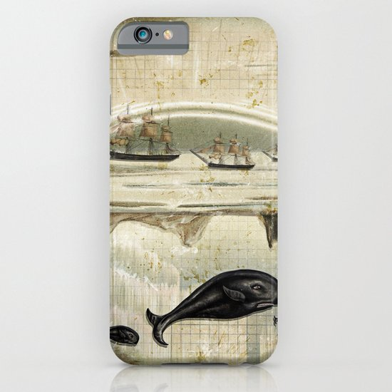 paper II :: whales/ships iPhone & iPod Case