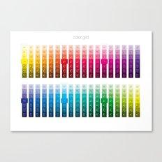 Color Grid Canvas Print
