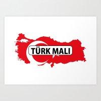 Made In Turkey Country N… Art Print