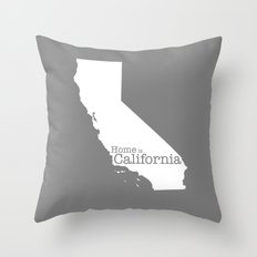 Home Is California Throw Pillow