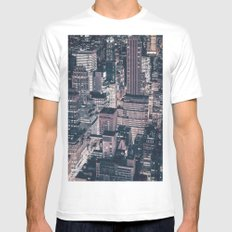 New York City Skyline SMALL Mens Fitted Tee White