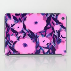 Layered Leaf Floral Pink iPad Case