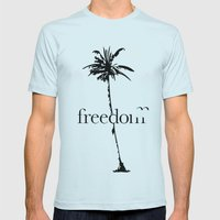 Free. Mens Fitted Tee Light Blue SMALL