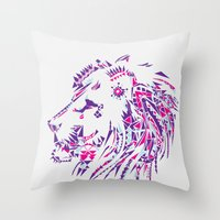 Aztec Lion Throw Pillow