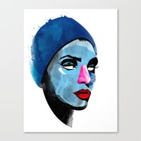 Woman's Head Canvas Print