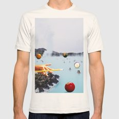 Swimming Pool Mens Fitted Tee Natural SMALL