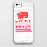 iPhone 5c Cases featuring Love you more than cake by MaJoBV