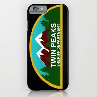 iPhone & iPod Case featuring Twin Peaks: Twin Peaks Sheriff's Department by InvaderDig