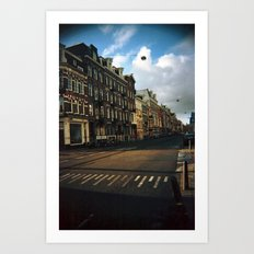 Amsterdam in Winter Art Print