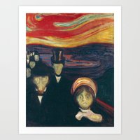 Edvard Munch - Anxiety Art Print