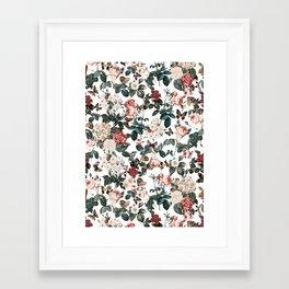 Framed Art Print - Floral and Butterflies II - Burcu Korkmazyurek