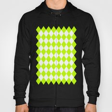 Diamonds (Lime/White) Hoody