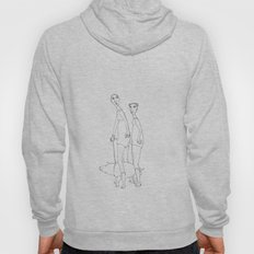 two girls and a dog Hoody