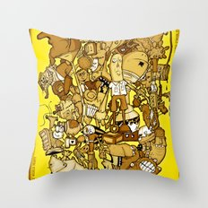end of the world party (commemorative edition) Throw Pillow