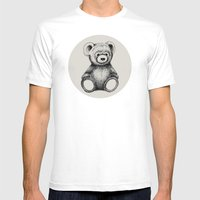 Teddy Bear Mens Fitted Tee White SMALL