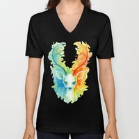 Feather Fawn Unisex V-Neck
