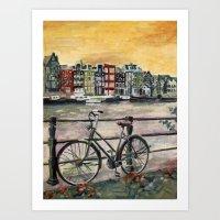Going Dutch (blue) Art Print