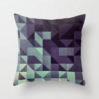 :: geometric maze :: Throw Pillow