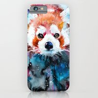 iPhone Cases featuring Red panda by Slaveika Aladjova