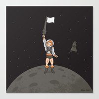 He-Man On The Moon Canvas Print