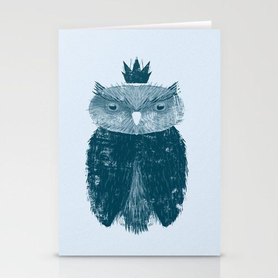 Owl King Stationery Card