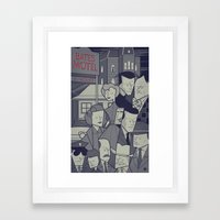 Psycho Framed Art Print
