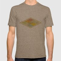 SPONGE CAKE / PATTERN SERIES 001 Mens Fitted Tee Tri-Coffee SMALL