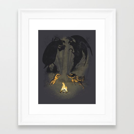 Let's settle it - in the shadows.  Framed Art Print