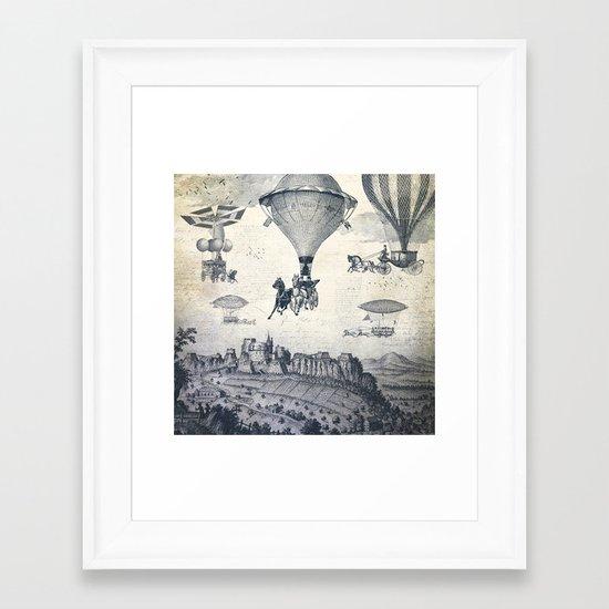 Carrilloons over the City Framed Art Print