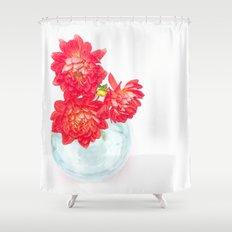 Dahlias in a vase... Shower Curtain