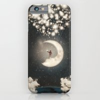 iPhone & iPod Case featuring The Big Journey of the Man on the Moon  by Paula Belle Flores