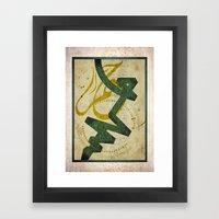 CALLIGRAPHY 03 Framed Art Print