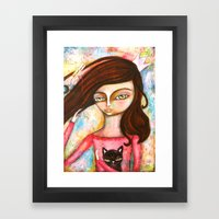 The Black Cat Princess Framed Art Print