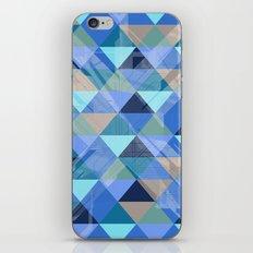 Triangles Blues  iPhone & iPod Skin