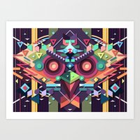 BirdMask Visuals - Buzza… Art Print